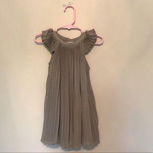 Baby Gap Pleated Metallic Dot Dress